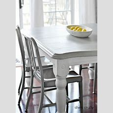 She's Crafty Gray And White Painted Kitchen Table