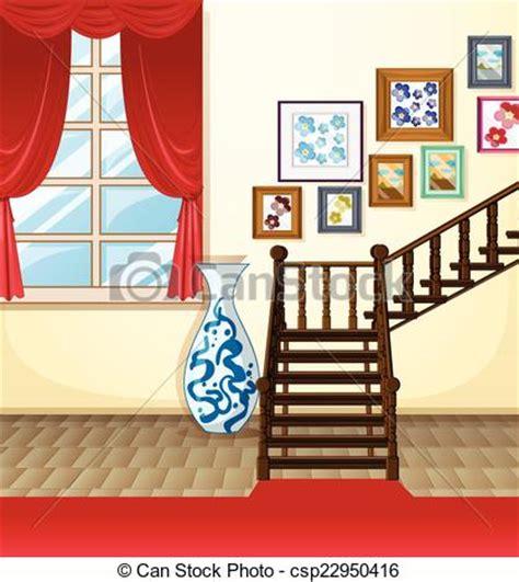 room illustration   room  stairs