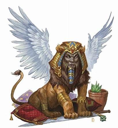 Sphinx Lion Rpg Monster Mythology Desert Fantasy