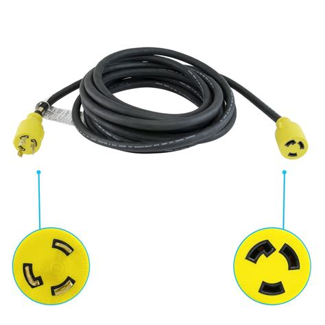 Houseables Extension Cord Electric Wire Prong Amp