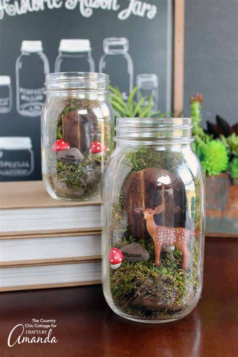 what to make with a jar fairy garden mason jar terrarium make this adorable mini fairy garden today