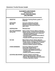 Resume For Teaching by Sle Resume For Teaching Position Sle Resumes