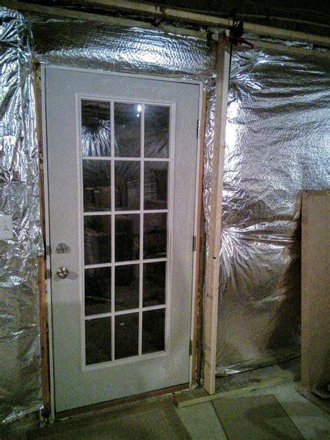 basement   frame  wall  existing exterior door home improvement stack exchange