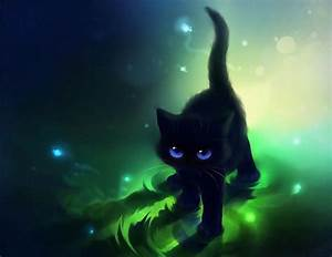 Cute Black Cat Cartoon Cute Black Cat Blue Eyes Cute Cat ...