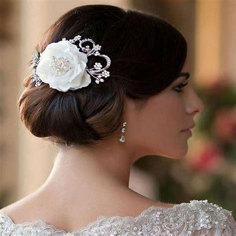 vintage flower wedding hair clip jasmine zaphira bridal