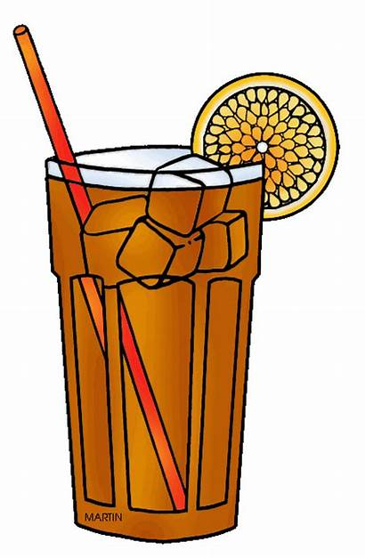 Tea Iced Clipart Clip Ice Drink Sweet
