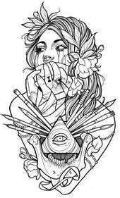 Sketches of tattoos for girls | Tattoo coloring book, Inspirational tattoos, Makeup artist tattoo