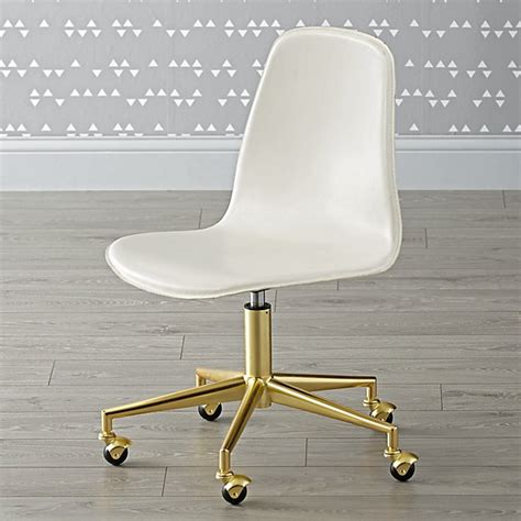 white and gold desk chair class act white gold desk chair the land of nod