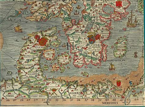 Section H Olaus Magnus 1539 Map of Scandinavia - Bell ...