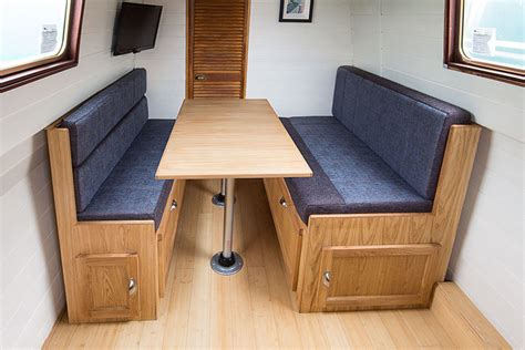Boat Dinette Bed by Narrowboat Information On Dinettes Pullman Or L Shaped