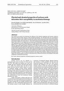 Pdf  Physical And Chemical Properties Of Soybean Seeds Determine Their Susceptibility To