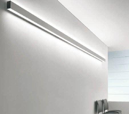 linear wall mounted fluorescent light fixture  offices