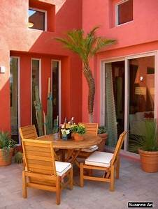 Coral Color House Exterior   Works With Natural  Neutral