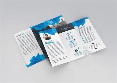 Tri Fold Brochures Templates by Blue Stylish Tri Fold Brochure Template 000734 Template