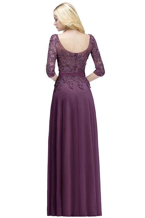 MisShow Applique 3/4 Sleeves Prom Evening Dresses Formal ...