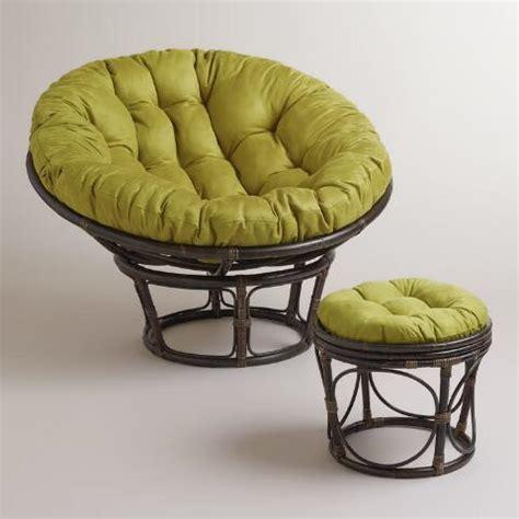 oasis green micro suede papasan chair cushion world market