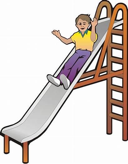 Slide Cartoon Clipart Sliding Playground Slides Down