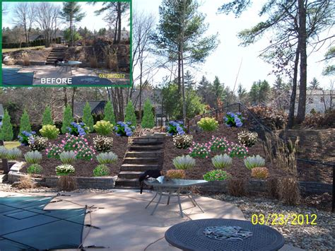 backyard slope landscaping landscaping ideas for backyard with a slope pdf