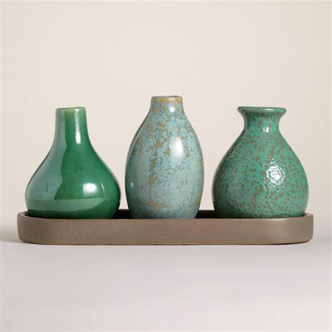 World Market Vases - cool mini vases with tray world market