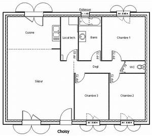 plan maison 80 m2 plain pied mc immo With plan maison plain pied 80m2