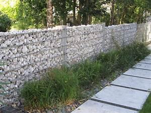cloture avce gabion et pierre natu With exceptional maison bois et pierre 15 cloture en parpaing