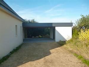 Carport Avec Abri : carport toit plat sur mesure en bretagne ~ Melissatoandfro.com Idées de Décoration