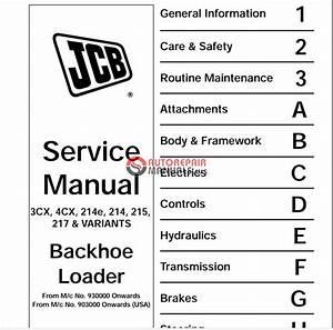 Jcb 3cx 4cx Service Manual