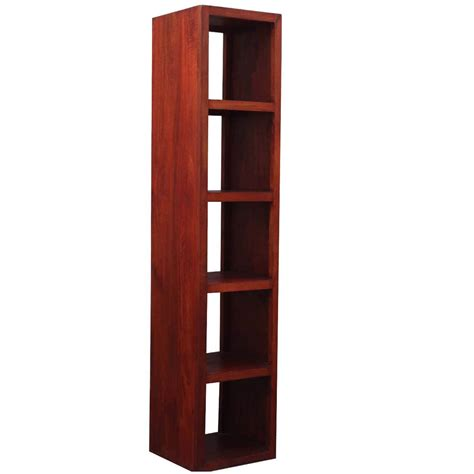 Bookcase Tower by Contemporary Solid Hardwood Open Back Media Tower Bookcase