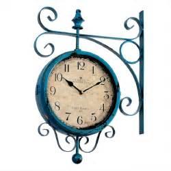 sided wall clock watch vintage saat double sided wall clock wrought iron wall clock duvar saati clocks reloj