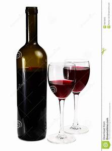 Bottle With Red Wine And Glass Stock Photos - Image: 16675643