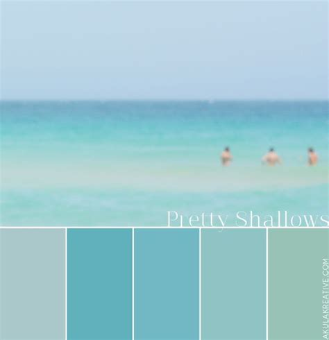 beachy colors water southern california color palette