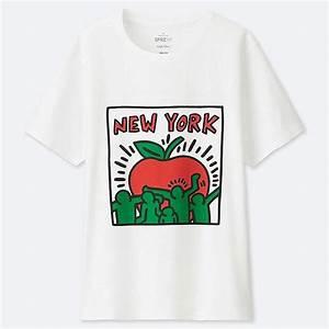 Women Sprz Ny Short Sleeve Graphic T Shirt Keith Haring