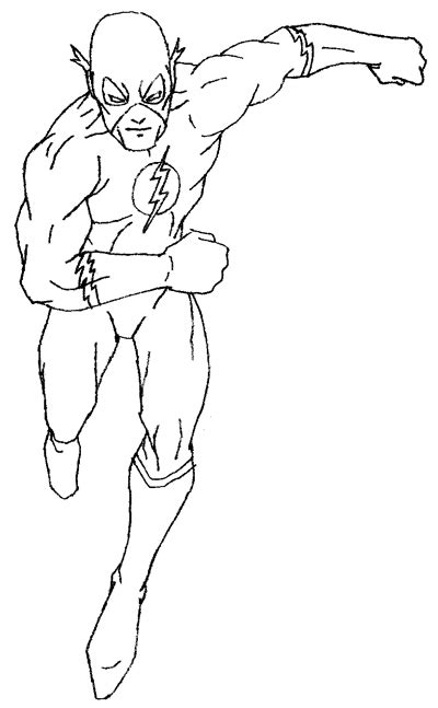 flash coloring pages getcoloringpagescom