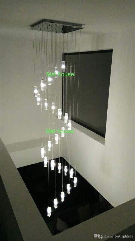 stair chandelier hanging crystal pendants  chandeliers