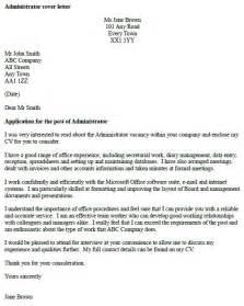 resume cover letter exles uk administrator cover letter exle cover letters and cv exles
