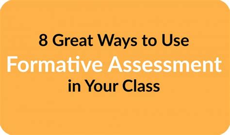 8 Great Ways To Use Formative Assessment In Your Class  Teacher Created Tips