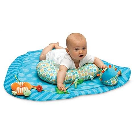 tummy time pillow boppy 174 tummy time play mat in stripe a dot buybuy baby
