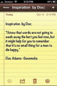 Doc Adams quote... Festus Quotes