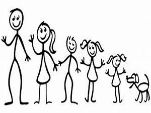 The gallery for --> Stick Figure Family Of Five