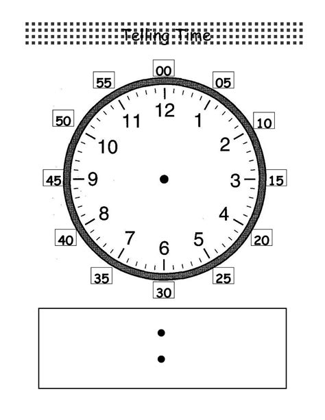 blank clock template blank clock worksheets activity shelter