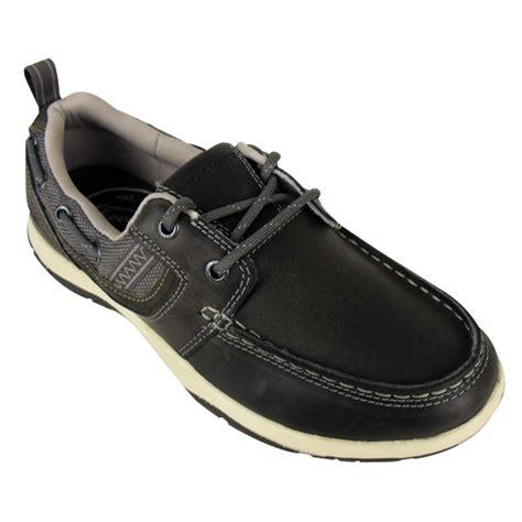 skechers boat shoes uk mens skechers newman vinci leather boat shoe loafer deck