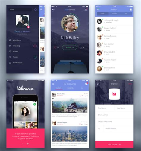 top free for iphone top 35 free mobile ui kits for app designers 2017 colorlib