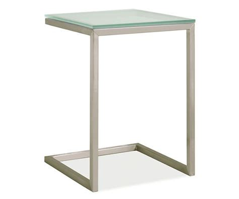 c shaped end table room board portica 18sq 25h c shaped end table for
