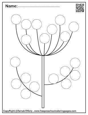 spring   dot markers activity  printable  kids