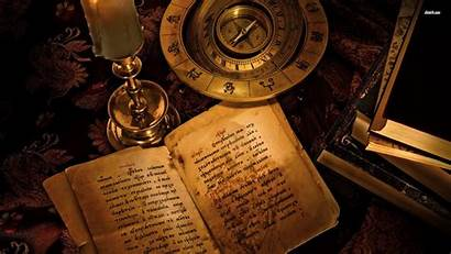 Ancient Books Background Witch Candle Things Treasure
