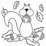 Coloring Squirrel Preschool Sheets Fall Popular Coloringhome sketch template