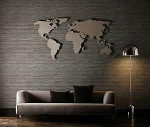 wanddeko fã r wohnzimmer wand im wohnzimmer weltkarte als wanddeko wall blanket inspiration interiors