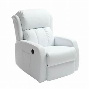 Fauteuil Electrique Pas Cher : fauteuil relax electrique blanc table de lit ~ Dode.kayakingforconservation.com Idées de Décoration