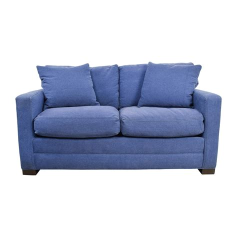 Blue Denim Loveseat by 79 Industries Industries Denim Blue