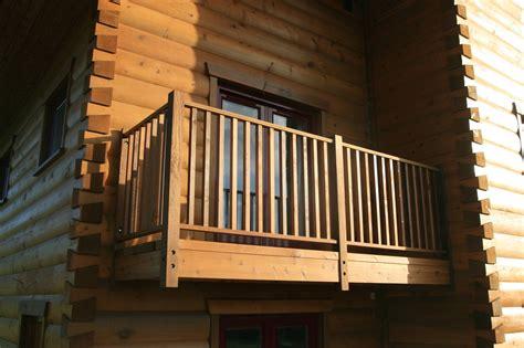 balcony progress   log house ecologhouse